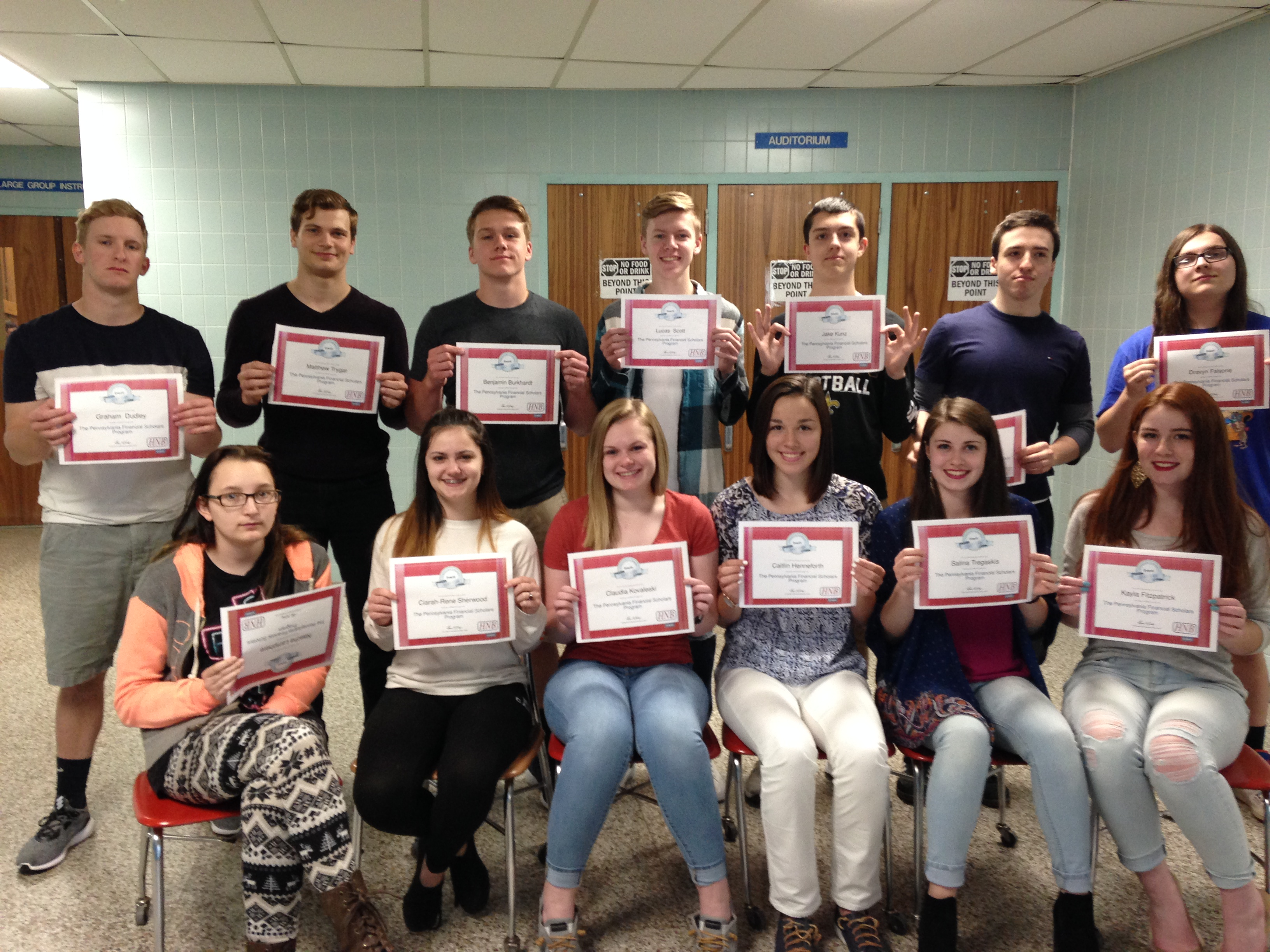 Western Wayne Business Students Complete Financial Literary Course