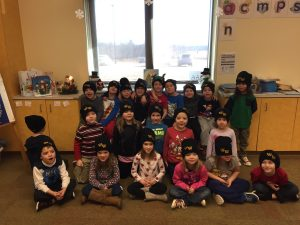 Thank you Santa and EverGreen PTA for our new WW Wildcat hats!