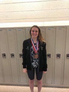 Hollister claims Bronze Medal in Swim Meet